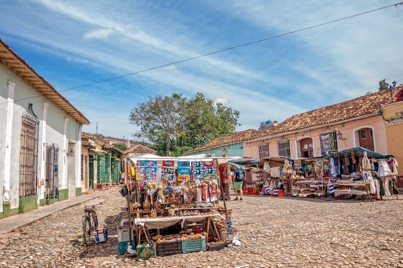 Marknad i Trinidad, Kuba fotografering för bildbyråer