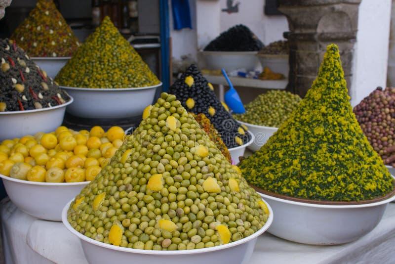 marknad morocco arkivbild
