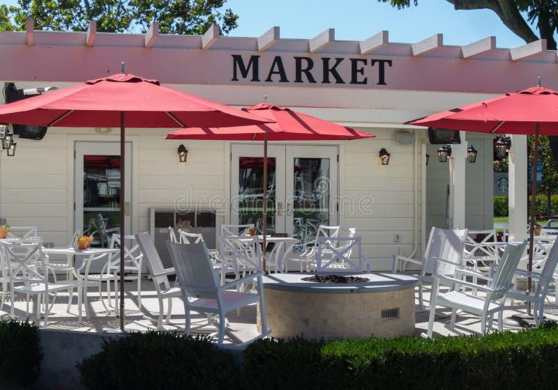 Marknad och bageri, utomhus- placering royaltyfri fotografi