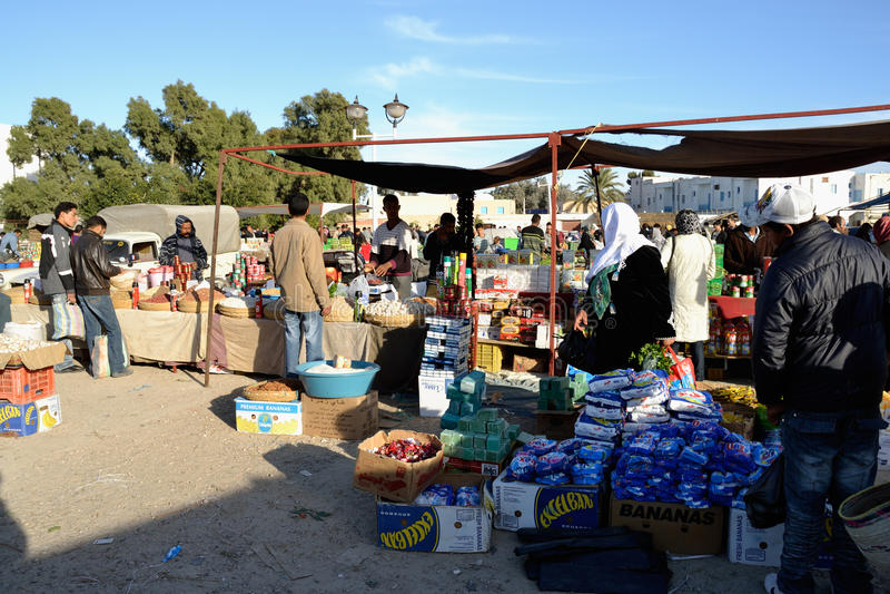 marknad tunisia royaltyfri bild