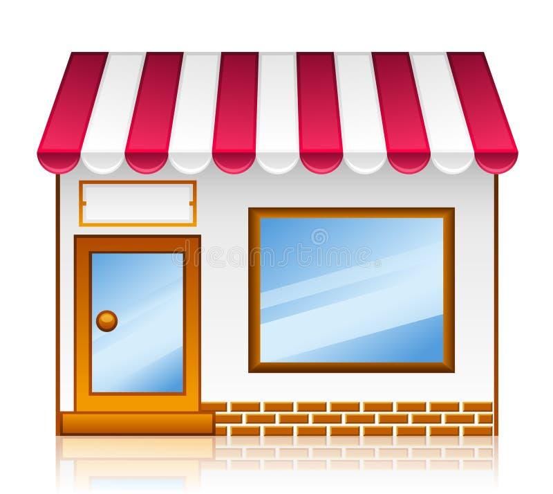 marknaden shoppar stock illustrationer