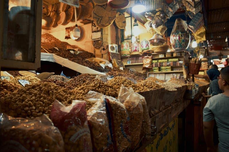 Marknader på Marocko Marrakesh arkivfoton