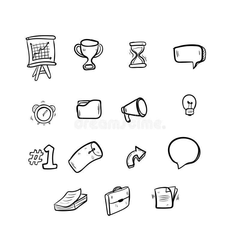Marknadsföra attraktion för hand för klottersymbolsvektor royaltyfri illustrationer