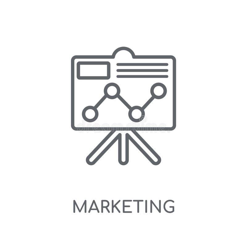 marknadsföra den linjära symbolen för presentation Modern översiktsmarknadsföring Pre royaltyfri illustrationer