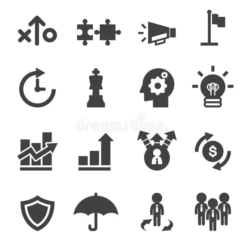 Marknadsföra den strayegy symbolen stock illustrationer