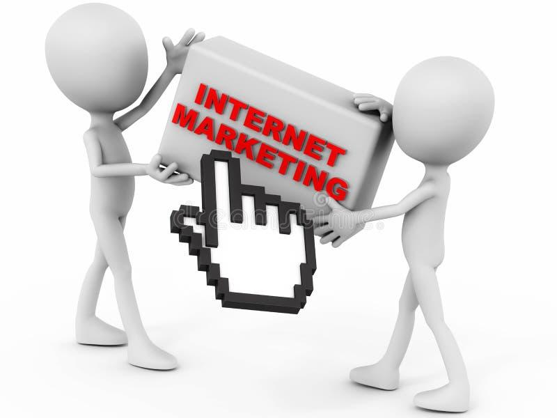 Marknadsföra för internet royaltyfri illustrationer