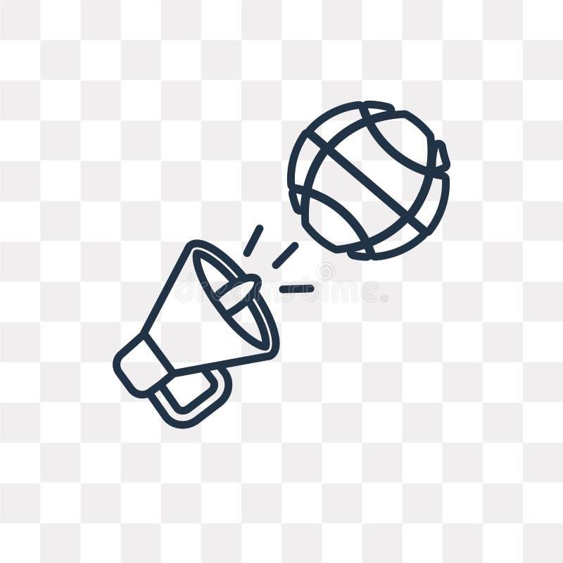 Marknadsföra vektorsymbolen som isoleras på genomskinlig bakgrund som är linjär royaltyfri illustrationer