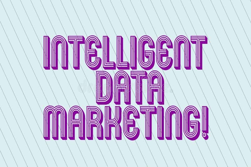 Marknadsföring för data för handskrifttext intelligent Begreppet som betyder information som är relevant till ett målkonto s, är  royaltyfri illustrationer