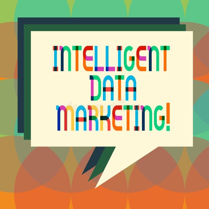 Marknadsföring för data för ordhandstiltext intelligent Affärsidéen för information som är relevant till ett målkonto s, är markn vektor illustrationer