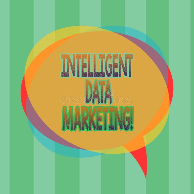 Marknadsföring för data för ordhandstiltext intelligent Affärsidéen för information som är relevant till ett målkonto s, är markn stock illustrationer
