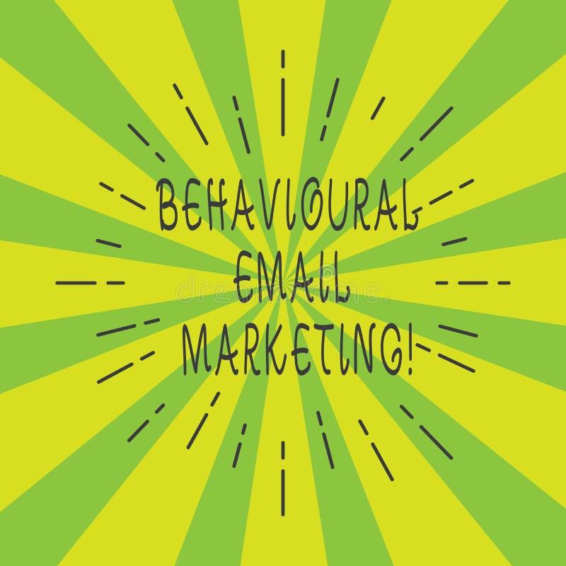 Marknadsföring för Email för handskrifttext beteende- Stråle för customercentric för avtryckare för begreppsbetydelse tunn för gr royaltyfri illustrationer
