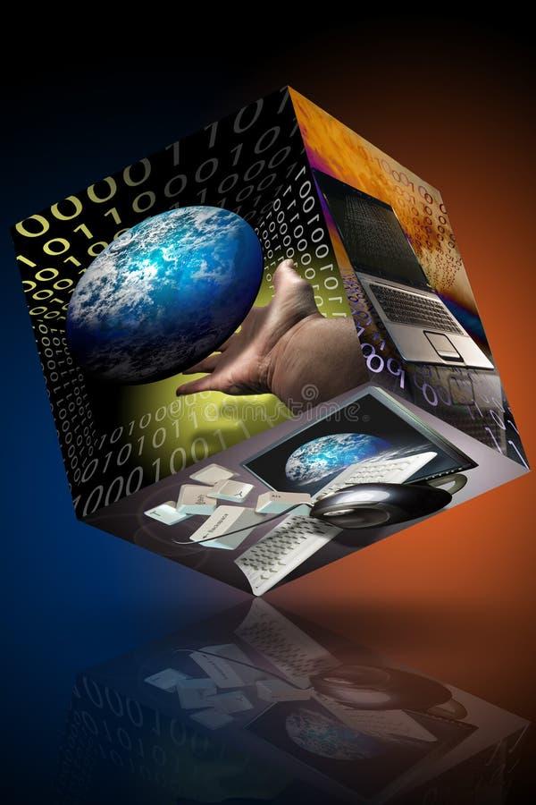 marknadsföring för ID för affärsdator stock illustrationer