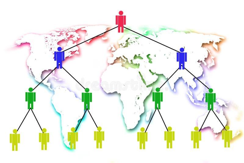 Marknadsföring för mänskligt nätverk. royaltyfri illustrationer