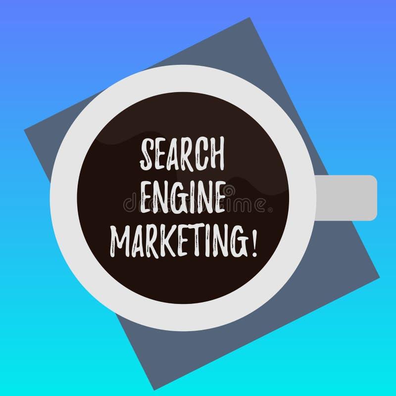 Marknadsföring för motor för sökande för handskrifttexthandstil Begreppsbetydelsebefordran av websites, genom att öka deras bästa royaltyfri illustrationer