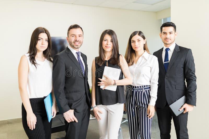 Marknadsföring Team Showing Coordination royaltyfri fotografi