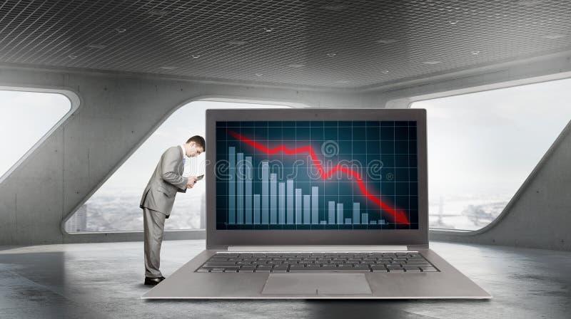Marknadsföringsårsrapport arkivfoto
