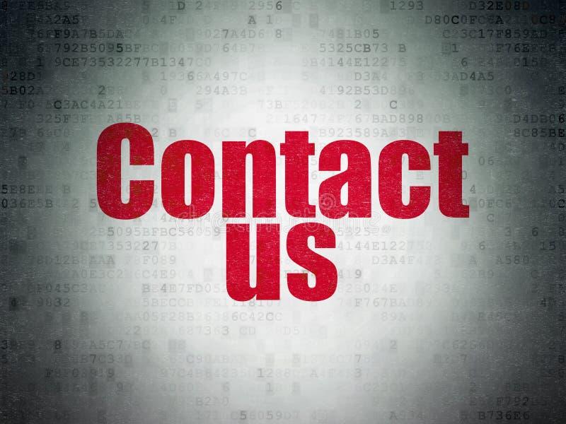 Marknadsföringsbegrepp: Kontakta oss på pappersbakgrund för Digitala data royaltyfri fotografi