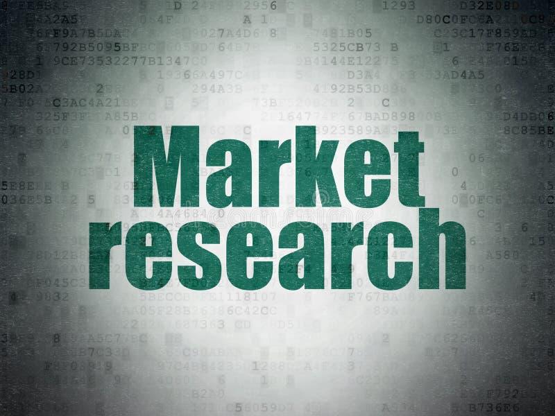 Marknadsföringsbegrepp: Marknadsforskning på pappersbakgrund för Digitala data fotografering för bildbyråer