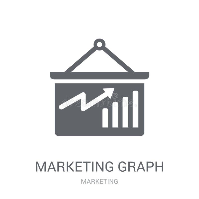 Marknadsföringsgrafsymbol  vektor illustrationer