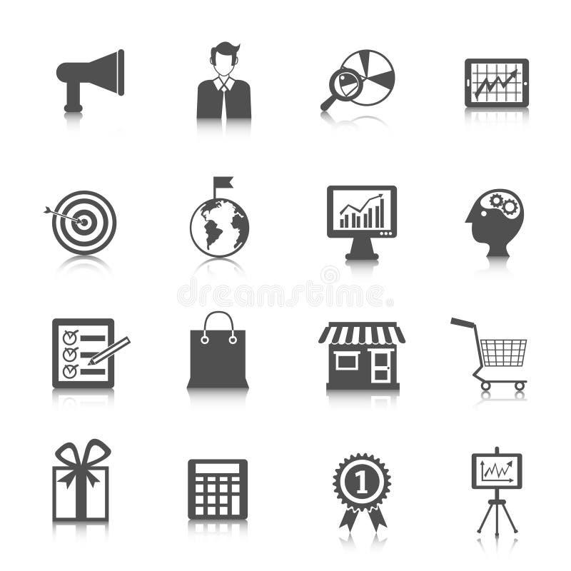 Marknadsföringssymbolsuppsättning vektor illustrationer