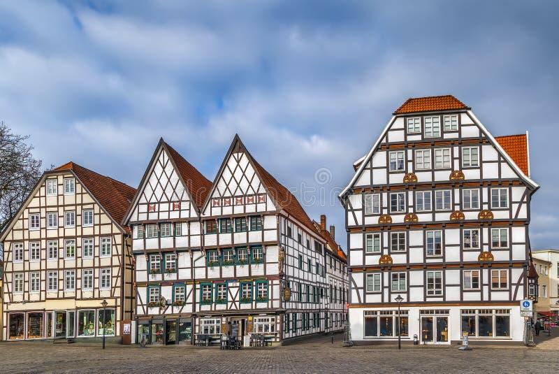 Marknadsfyrkant, Soest, Tyskland arkivbild