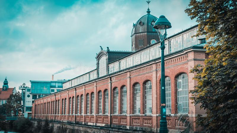 Marknadshallen Chemnitz i Sachsen royaltyfria bilder
