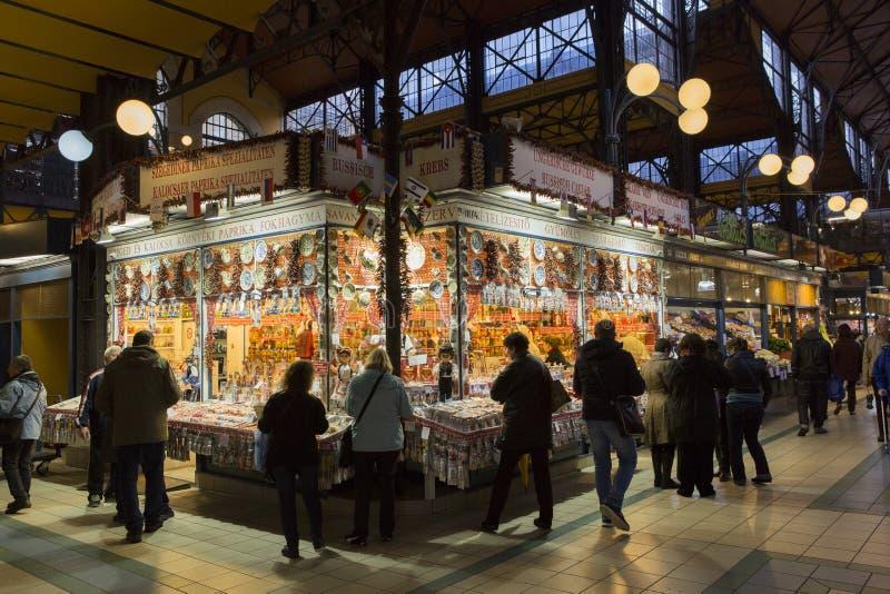 Marknadsplats Budapest arkivbild