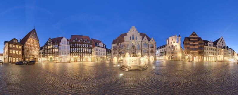 Marknadsställe i Hildesheim, Tyskland arkivfoton