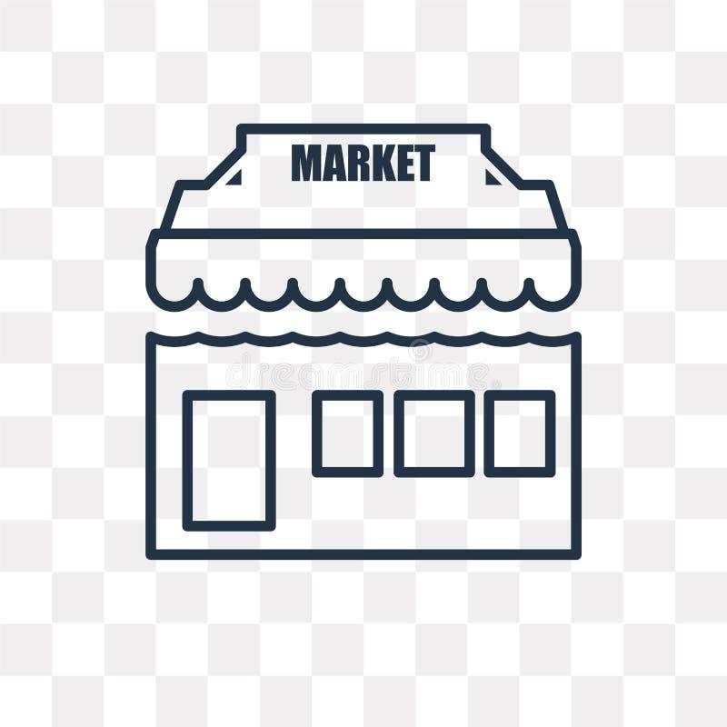 Marknadsvektorsymbol som isoleras på genomskinlig bakgrund, linjär mor vektor illustrationer