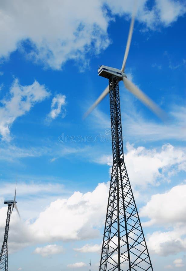 markotny poruszający nieba turbina wiatr zdjęcie royalty free