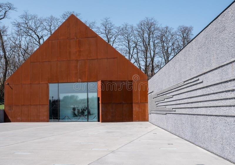Markowa Polonia Museo de la familia de Ulma de postes que ahorran a judíos en la Segunda Guerra Mundial diseñada por el diseño de fotos de archivo libres de regalías