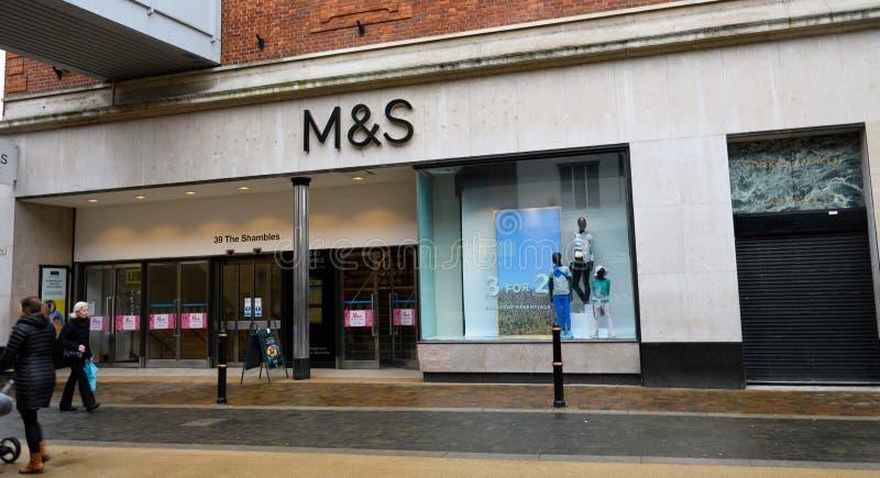 Marks & Spencers Worcester royalty-vrije stock afbeelding
