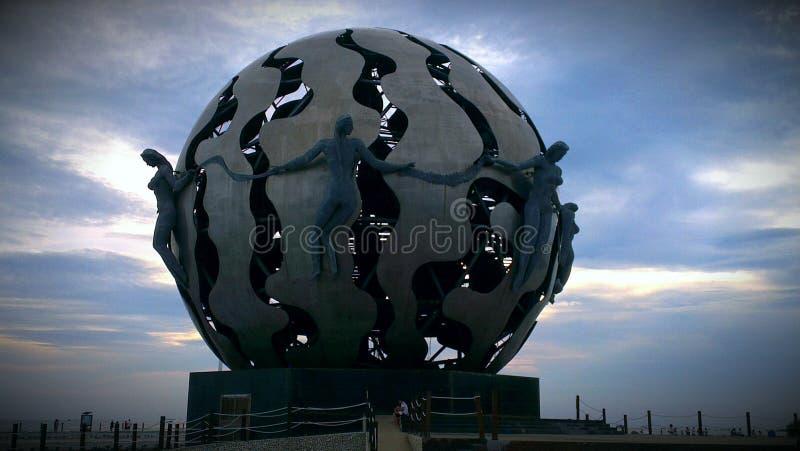 Markstein in Beihai, China stockfotografie
