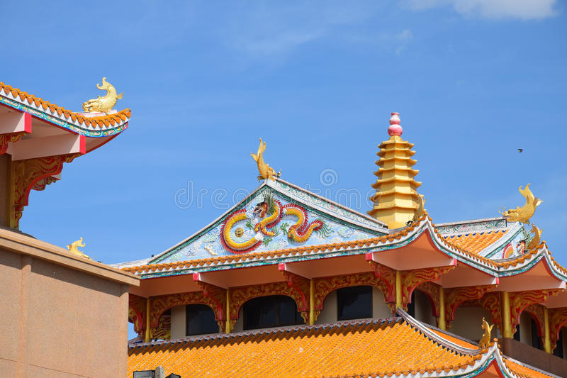 Markstein des Chinesen in Thailand stockfotos