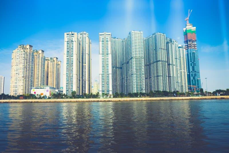 Markstein 81 ist ein super-hoher Wolkenkratzer z.Z. im Bau in Ho Chi Minh City, Vietnam, das von den Briten entworfen wurde lizenzfreie stockfotos
