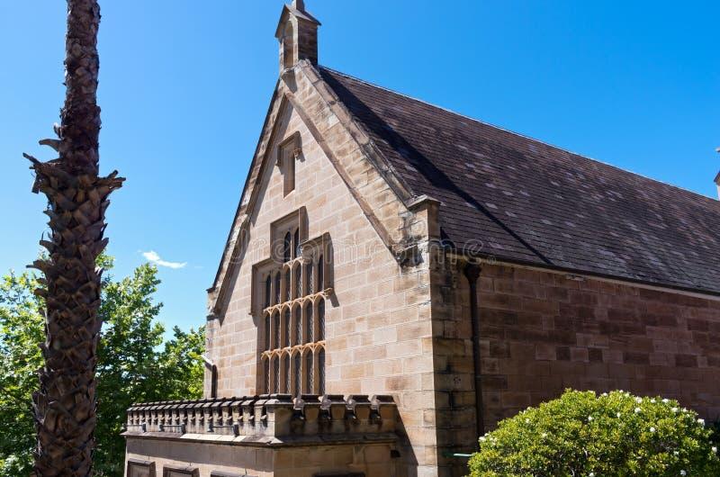 Markstein-Kapitel Hall in Sydney lizenzfreie stockfotos