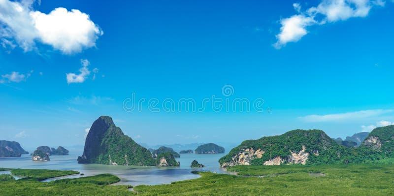 Markstein Phangnga Samet Nangshe lizenzfreies stockbild