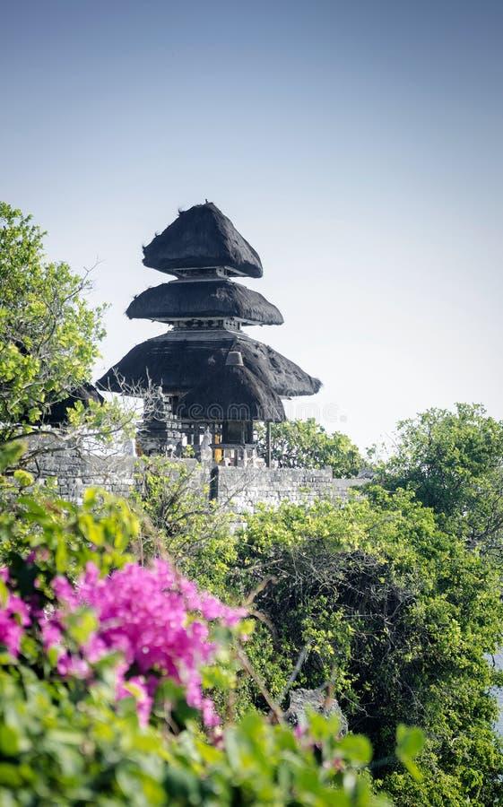 Markstein Uluwatu hindischer Tempel alten clifftop Balinese in Bali lizenzfreie stockfotos