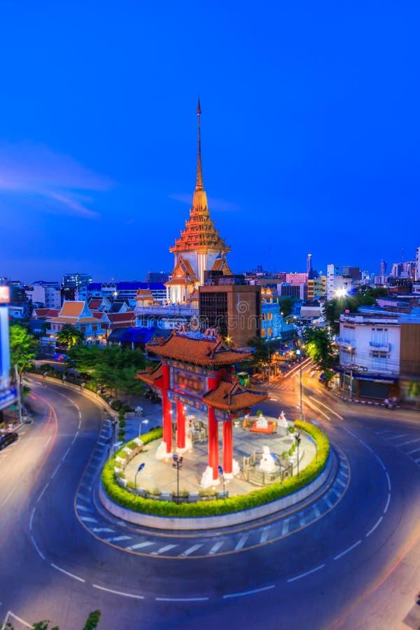 Markstein von Chinatown in Bangkok, Thailand lizenzfreie stockfotografie