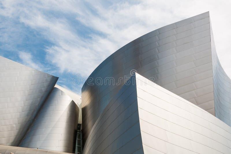 Markstein Walt Disney Concert Hall Designed durch Frank Gehry lizenzfreies stockfoto
