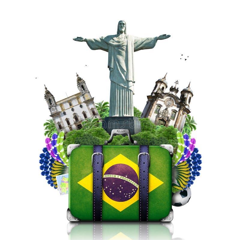 Marksteine Brasiliens, Brasilien lizenzfreie stockbilder