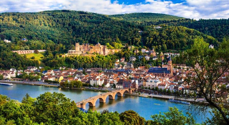 Marksteine von Deutschland, Heidelberg mittelalterliche Stadt stockfoto