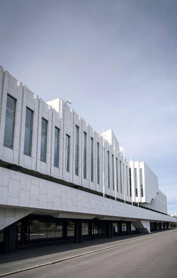Marksteingebäude Finlandia Hall in Helsinki-Stadt Finnland lizenzfreie stockfotografie