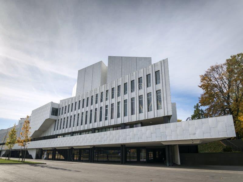 Marksteingebäude Finlandia Hall in Helsinki-Stadt Finnland stockbilder