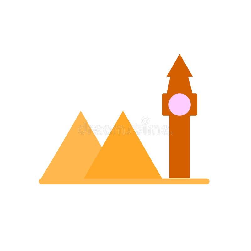 Marksteinikonenvektorzeichen und -symbol lokalisiert auf weißem Hintergrund, Marksteinlogokonzept vektor abbildung