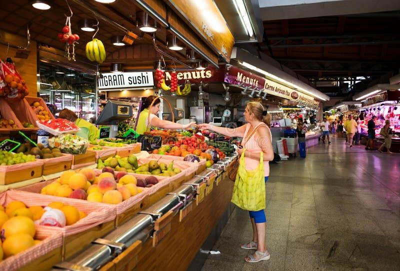 Markt in Barcelona, Spanje royalty-vrije stock afbeelding