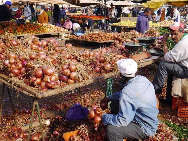 Markt in Beni Mellal stock afbeeldingen