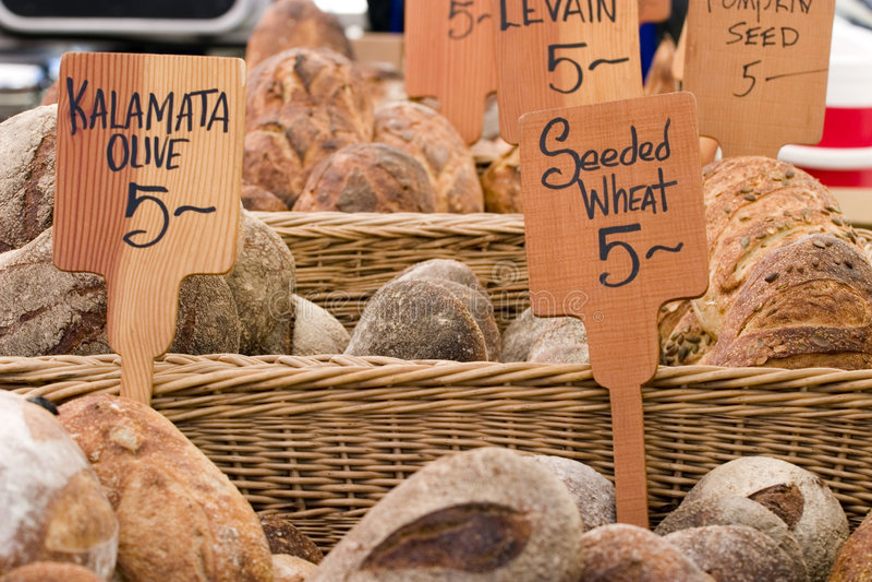 Markt-Brot des Landwirts lizenzfreies stockbild