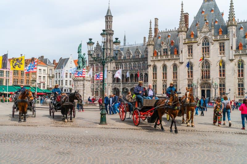 Markt Bruges, Belgia zdjęcia stock