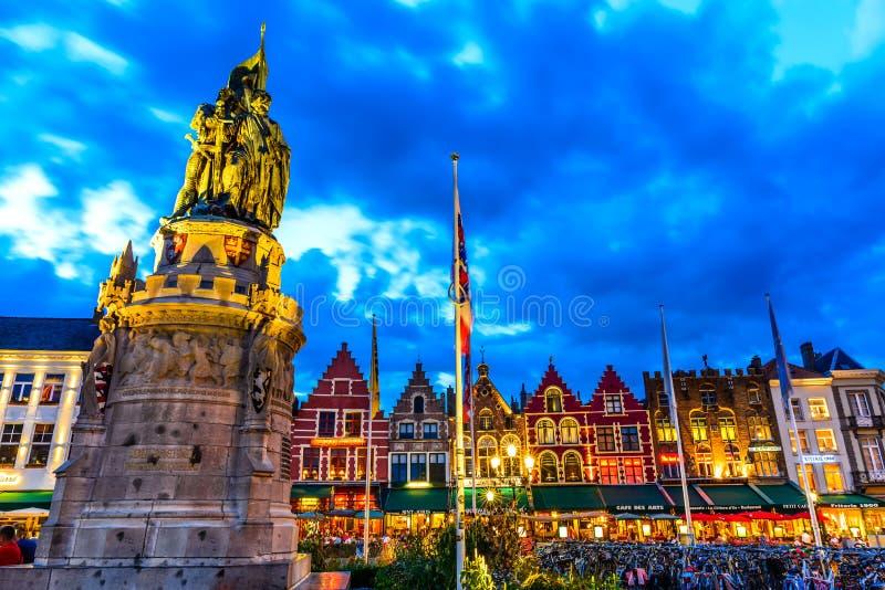 Markt, Bruges, Belgium stock photos